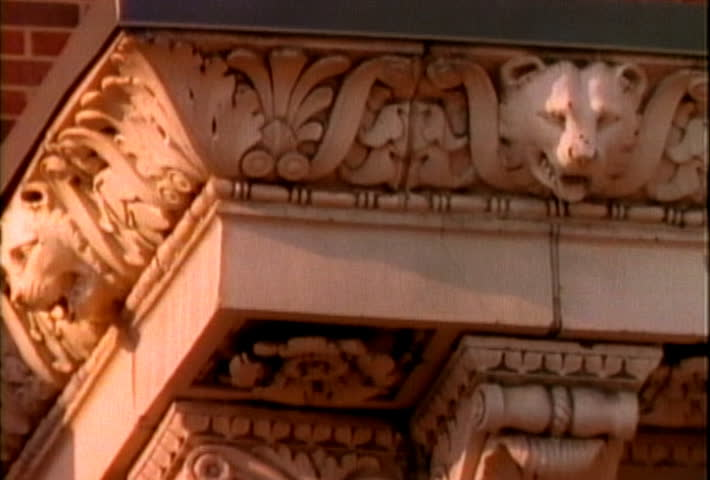 Architectural element - SD stock footage clip