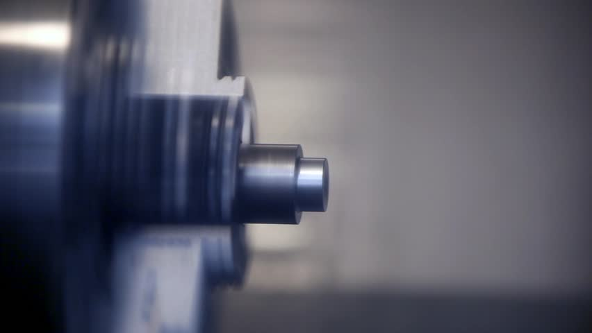Industrial lathe works metal with precision - HD stock footage clip