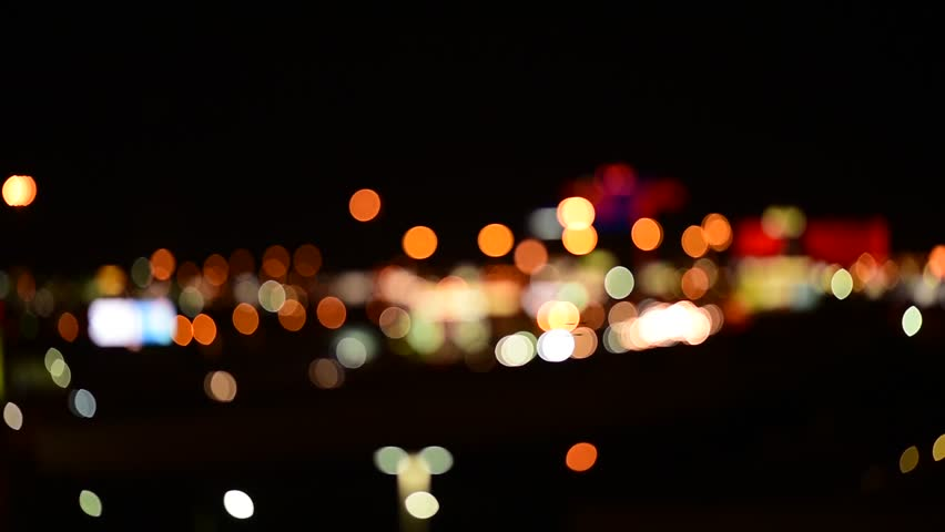 Out of focus background with blurry unfocused city lights and driving cars and car lights. | Shutterstock HD Video #24237542