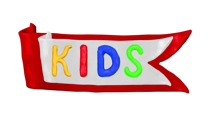 Animation Clay Title Kids and Children with ribbon. Alpha matte. 4K | Shutterstock HD Video #24283811