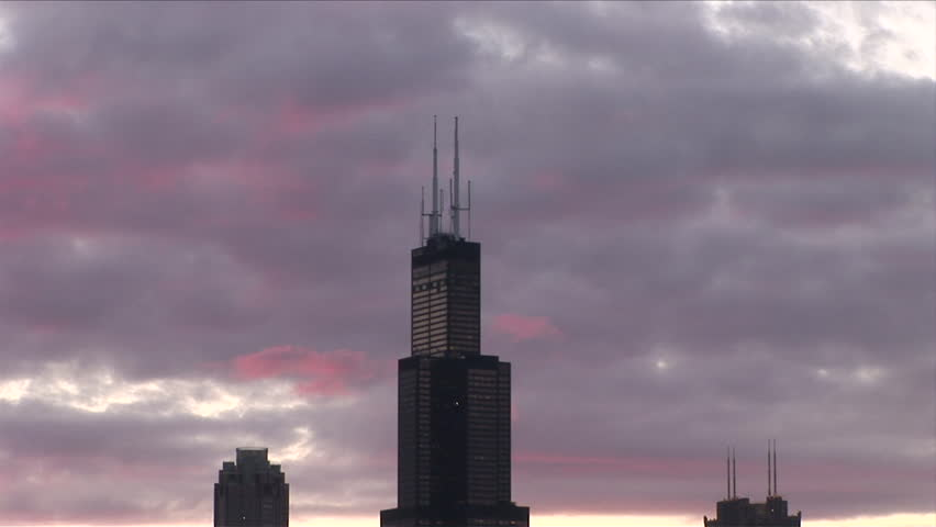 View Of Willis Tower Formerly Sears Tower At Magic Hour