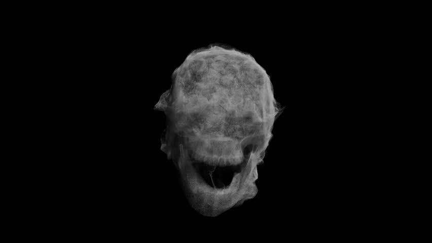 Animation head ghost skull smoke | Shutterstock HD Video #24587984