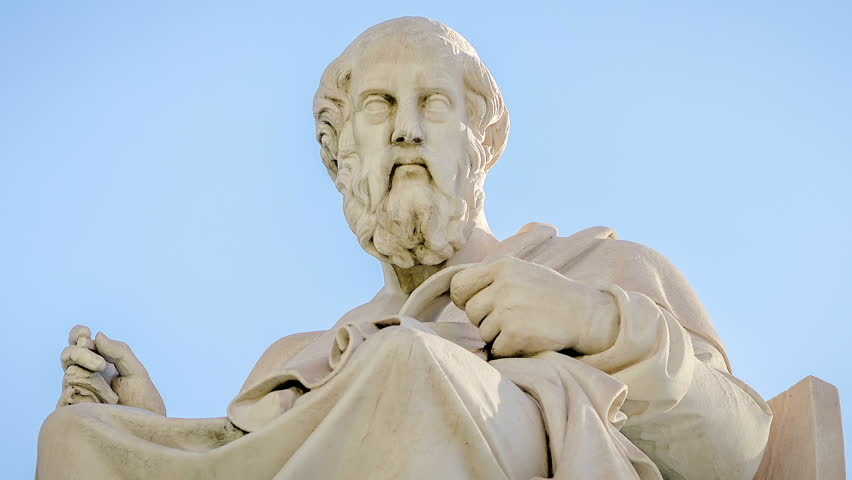 Close-Up Marble Statue of the Ancient Greek Philosopher Plato | Shutterstock HD Video #24631769