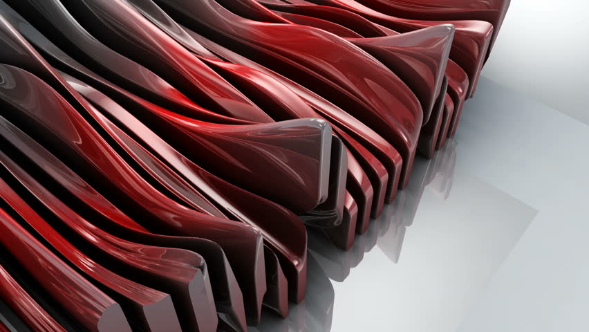 Metallic wave shapes flowing motion, glossy hi-tech futuristic style. Modern geometrical animated abstract background | Shutterstock HD Video #24658301