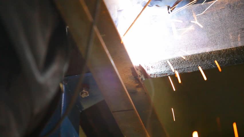 Metal construction welding process | Shutterstock HD Video #2473490