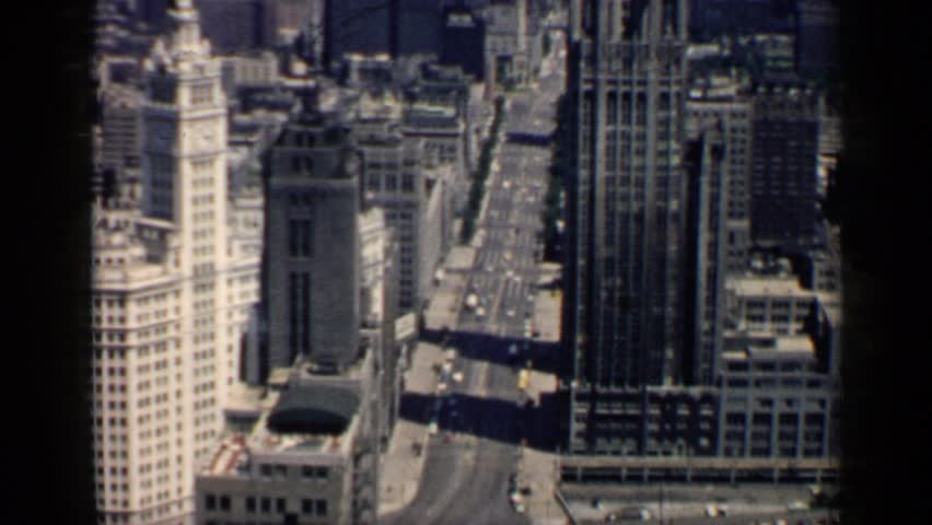 CHICAGO 1958: the beautiful view of the city side | Shutterstock HD Video #24816863