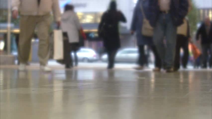 A man carrying shopping bags - HD stock footage clip
