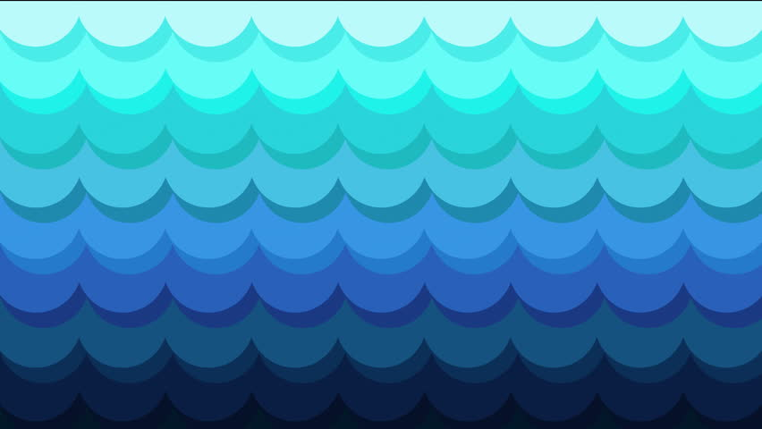 Colorful blue flat 3d Abstract Background seamless loop for text or logo. fashion and music backdrop. Illustration art for children. Creative animated pattern . ocean and sea concept. waves background | Shutterstock HD Video #24971753