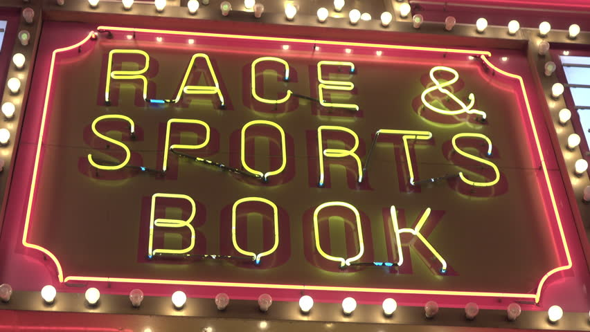 Race and sports book light flashing at casino exterior 4k | Shutterstock HD Video #24994955