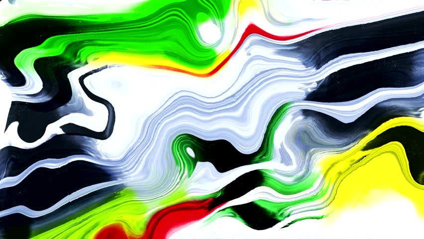 Yellow and green water-colour abstract art , fluid painting  | Shutterstock HD Video #25000292