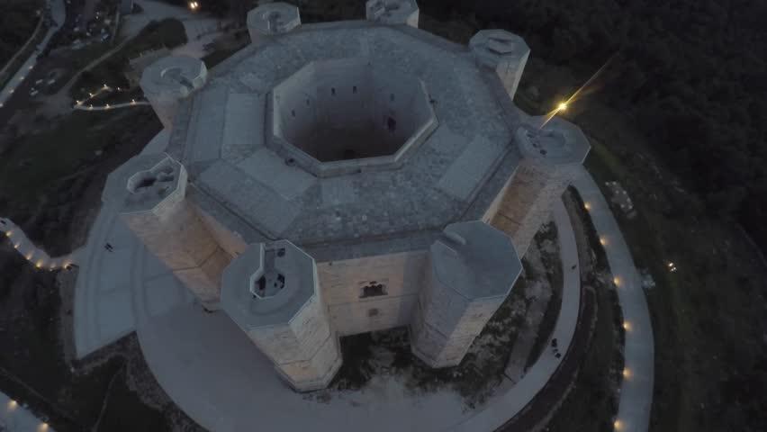 Castel del Monte Octogonal Castle Puglia Italian landscape  | Shutterstock HD Video #25010759