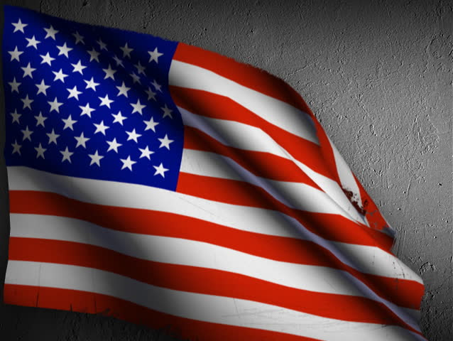 Usa flag. Weathered and worn as if it flew on the battlefield. - SD stock footage clip