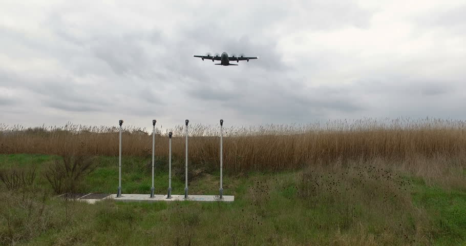 Military Transporter Airplane is landing at the Airport   Shutterstock HD Video #25129901