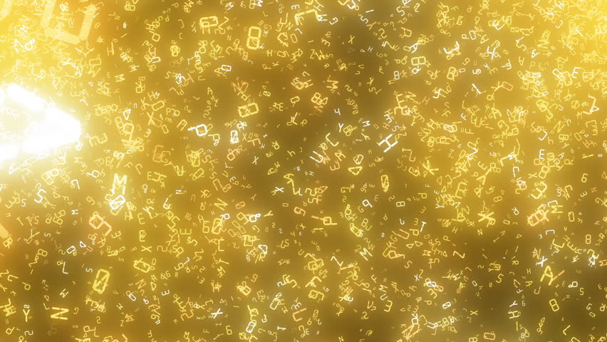 Sparkling graphic particles, digital letters | Shutterstock HD Video #25152257