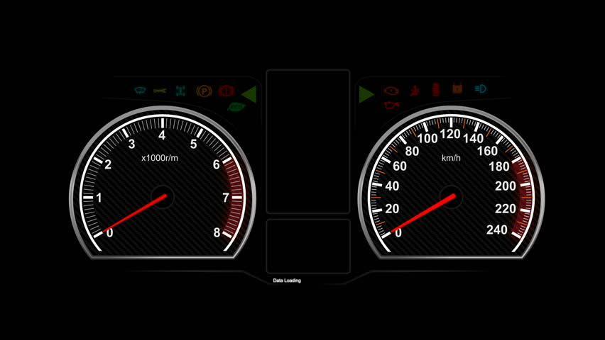 Animation of car dashboard speed rpm meter and automobile icon for transport concept   Shutterstock HD Video #25156235