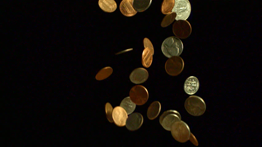 gold coins black background - photo #17