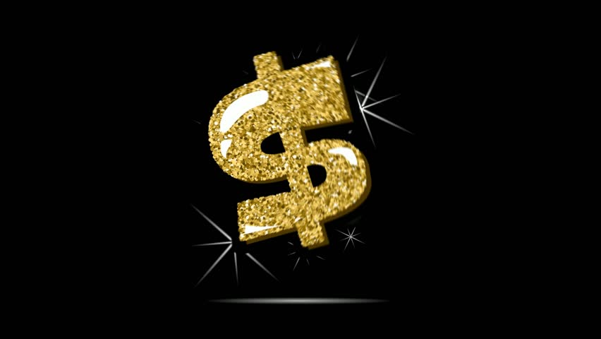 2d symbol of the dollar in dynamic animation. | Shutterstock HD Video #25183640