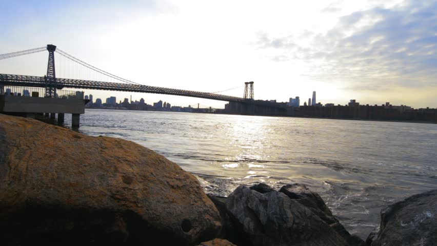 Waterfront Pan Over Of New York City | Shutterstock HD Video #25187465