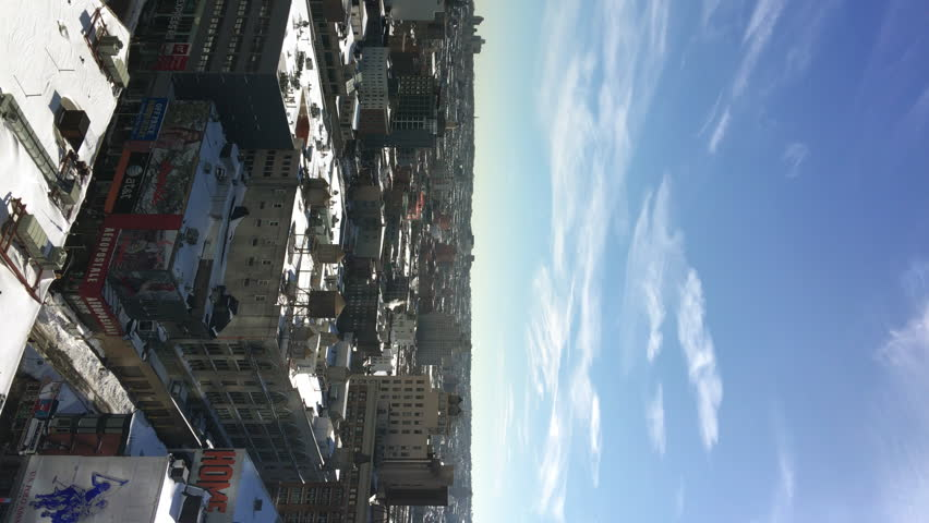 High up view of a sunny day in snowy Brooklyn, New York, vertical shot | Shutterstock HD Video #25187699