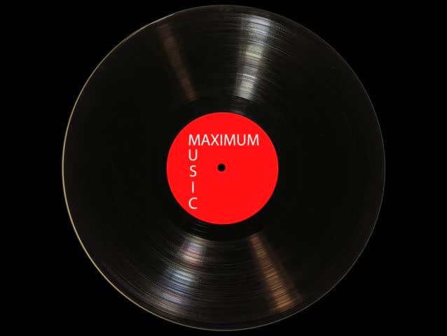 Vinyl turning forward and back.