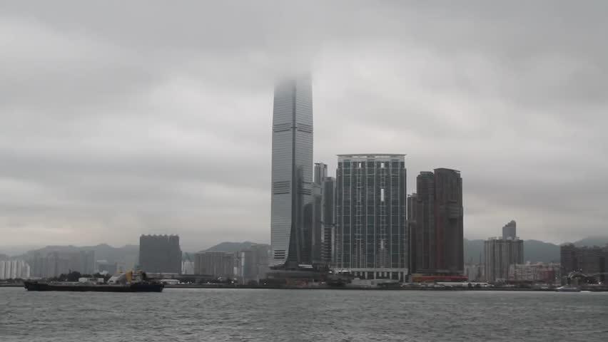 Hong Kong. Kowloon, International Commerce Centre (ICC) | Shutterstock HD Video #25193396