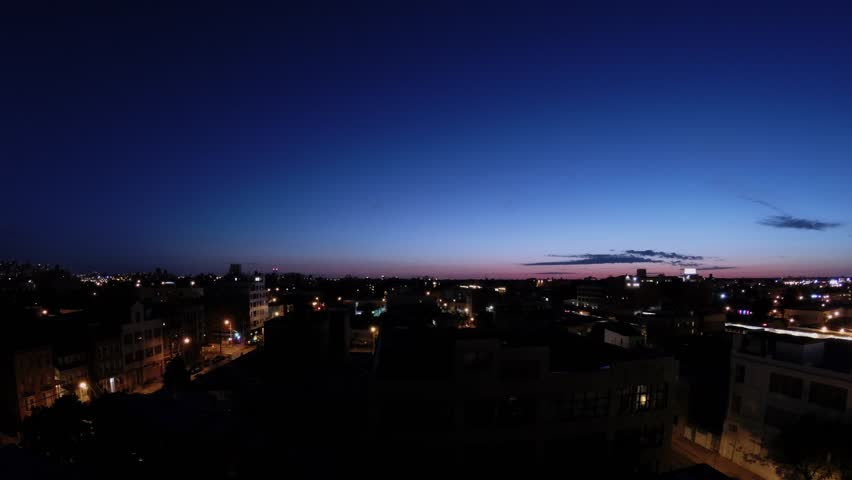 Sunrise above Queens district in New York city at summer morning. Timelapse | Shutterstock HD Video #25202882
