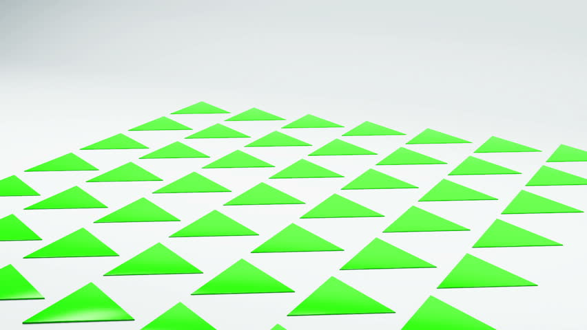 3d geometrical prickly triangles thorns on white floor animation. Motion geometric abstract background with copyspace | Shutterstock HD Video #25208318
