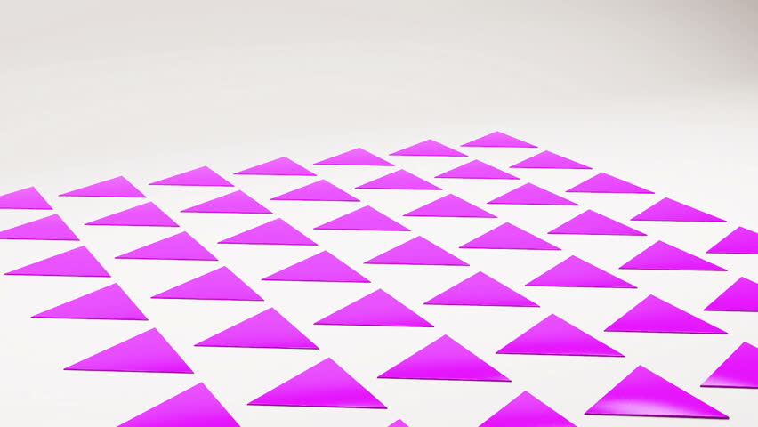 3d geometrical prickly triangles thorns on white floor animation. Motion geometric abstract background with copyspace | Shutterstock HD Video #25208336