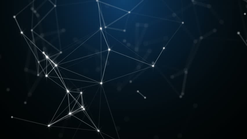 Plexus of abstract lines, triangles and dots. Loop animations. | Shutterstock HD Video #25208750
