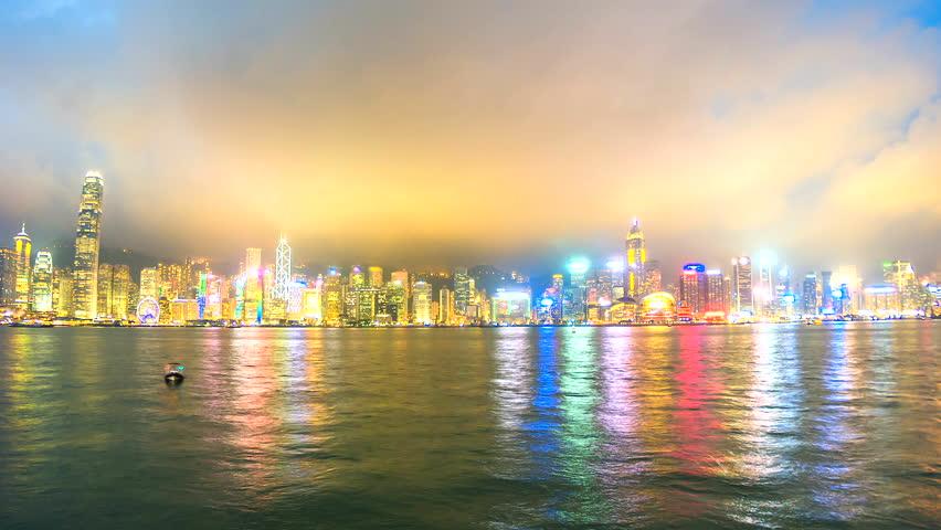4K.Time lapse Hong Kong City  | Shutterstock HD Video #25210532