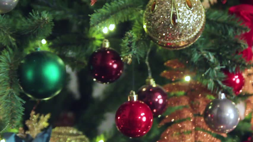 Christmas tree, toys on the Christmas tree | Shutterstock HD Video #25211783