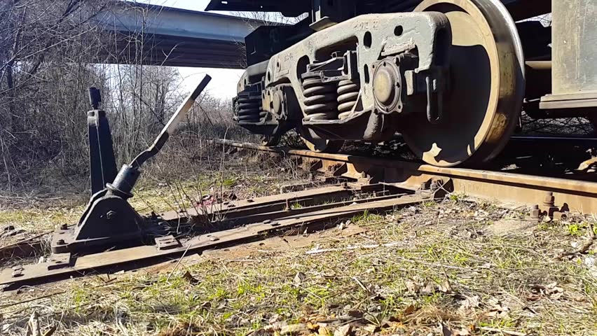 The train goes on rails. Bottom view   Shutterstock HD Video #25212998