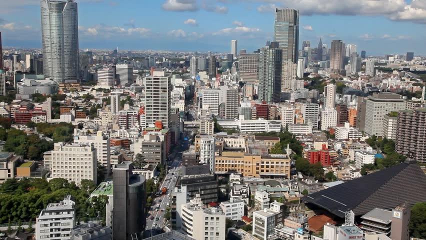 Aerial panorama of Tokyo skyscrapers skyline, Japan | Shutterstock HD Video #25227200