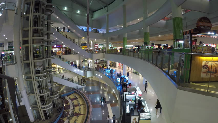 Manila, Philippines - March 2017 : Robinson shopping mall in Malate area in Manila in the Philippines