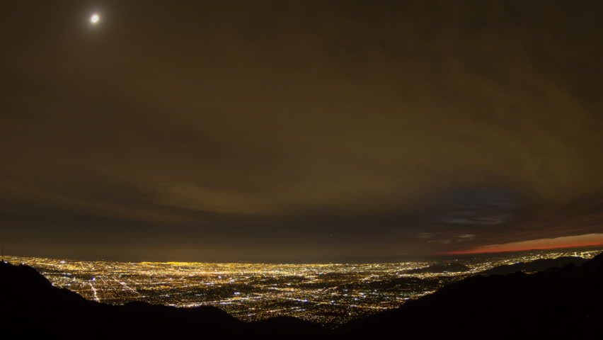Los Angeles Time Lapse from Mt Wilson Night | Shutterstock HD Video #25274657