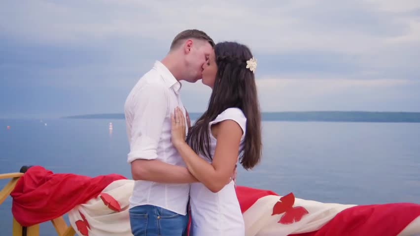 Couple in love at the pier   Shutterstock HD Video #25292540