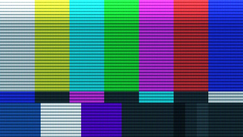 Bars and tone - HD stock video clip