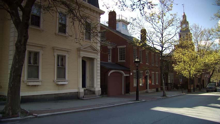 Benefit Street, Providence, Rhode Island - HD stock footage clip