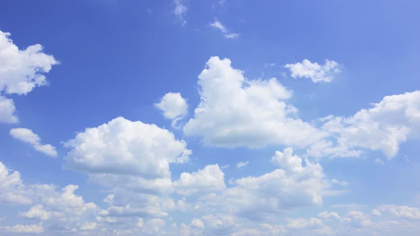 Time lapse clip of summer sky - HD stock video clip