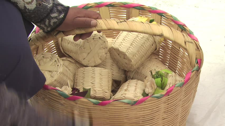 Mexican Women Selling Hand Made Baskets