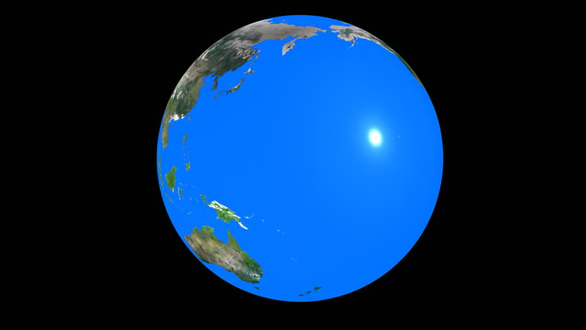 Big blue marble. Photoreal land on a blue glass sphere. Seamless loop. - HD stock video clip