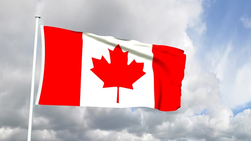 3d animated flag of canadian flag stock footage video 339841 shutterstock - Canada flag 3d wallpaper ...