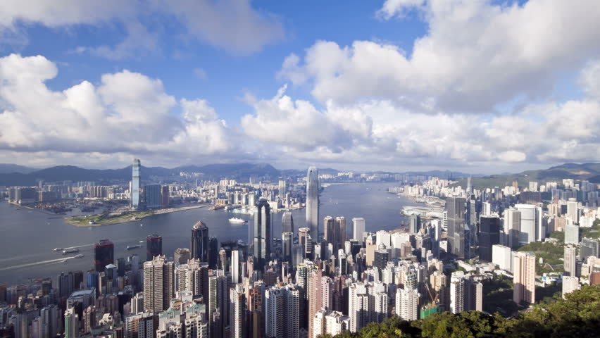 China hong kong business district with bank of china tower international | Shutterstock HD Video #25846625