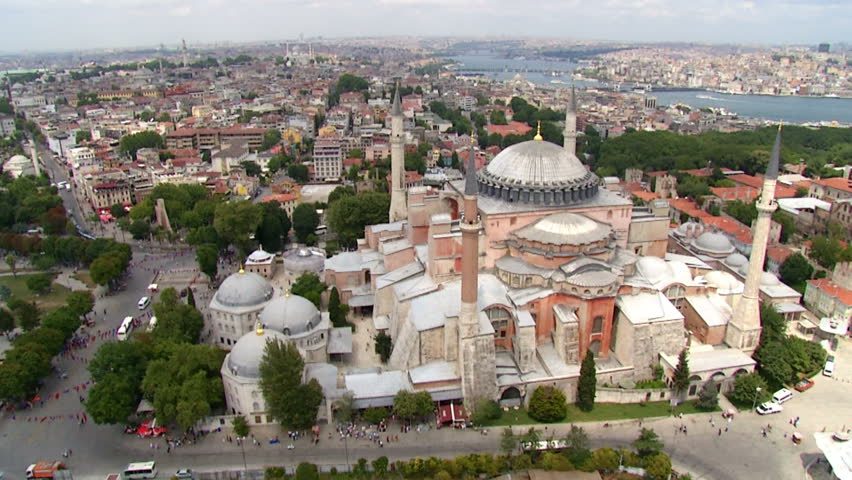 Hagia Sophia Museum from Sky. Istanbul.