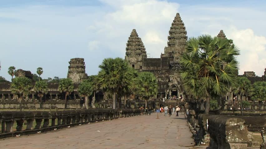 Angkor Wat Cambodia - HD stock footage clip