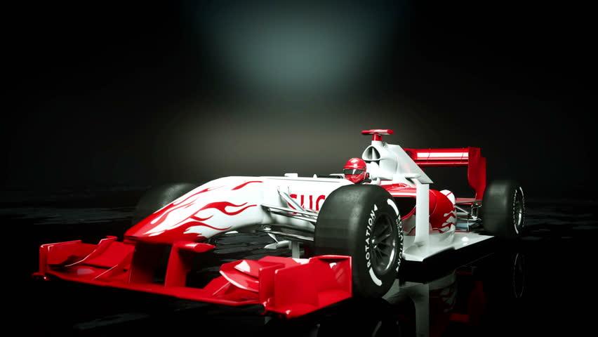 Race sport car in dark studio. realistic 4K animation.   Shutterstock HD Video #25925960