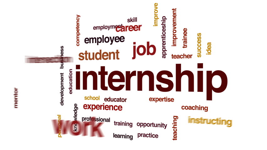 Internship animated word cloud, text design animation. | Shutterstock HD Video #26093261