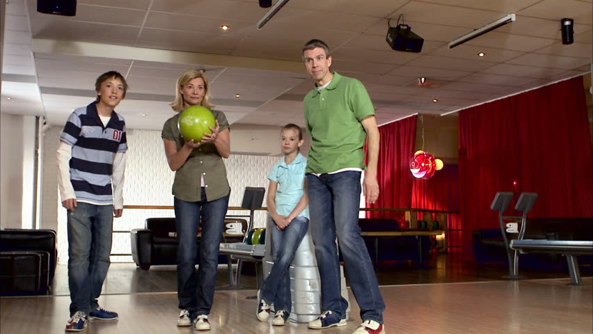 A family bowling