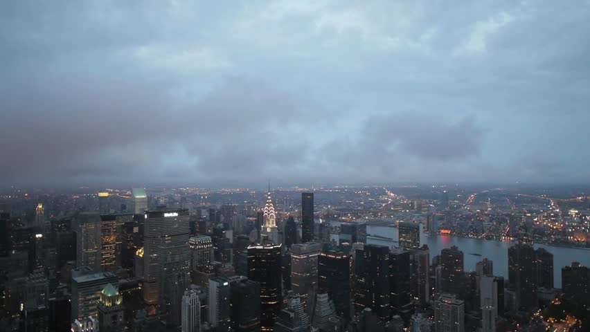 Time-lapse New York City Manhattan skyline cloudy day  | Shutterstock HD Video #2615726