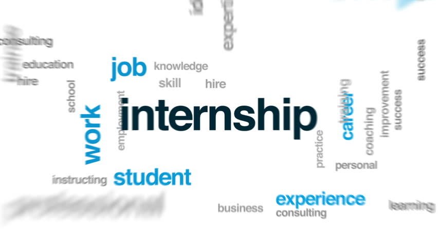 Internship animated word cloud, text design animation. | Shutterstock HD Video #26161841